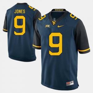 Blue #9 For Men Adam Jones WVU Jersey Alumni Football Game 973374-196