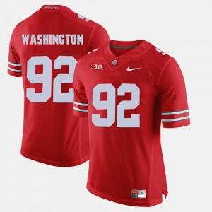 Alumni Football Game Men Adolphus Washington OSU Jersey Scarlet #92 286524-878