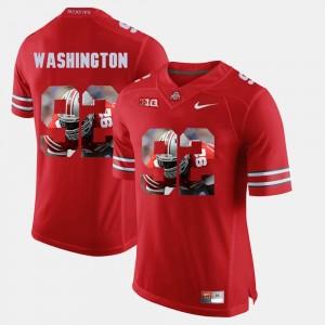 #92 Adolphus Washington OSU Jersey Men's Scarlet Pictorial Fashion 325770-834