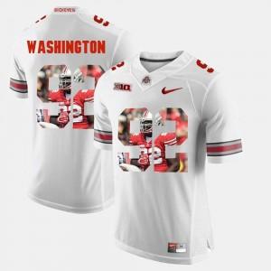 Mens Pictorial Fashion White Adolphus Washington OSU Jersey #92 639802-646