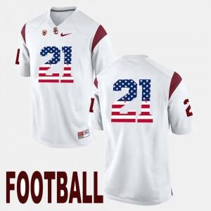 #21 Adoree' Jackson USC Jersey US Flag Fashion White For Men 357153-339