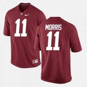 Alec Morris Alabama Jersey Men's Crimson Alumni Football Game #11 465122-601