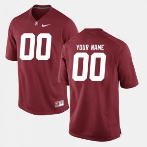 Crimson Men's College Football Alabama Customized Jerseys #00 687134-688