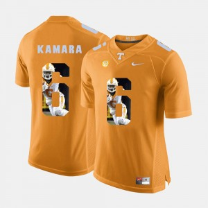 For Men's Alvin Kamara UT Jersey Pictorial Fashion #6 Orange 586967-778