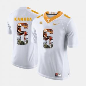 Alvin Kamara UT Jersey Pictorial Fashion #6 Men White 432300-189