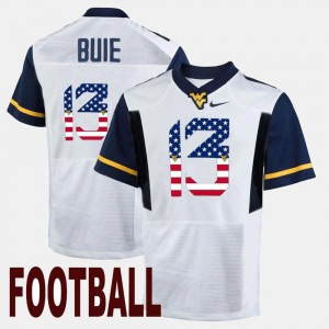 For Men's Andrew Buie WVU Jersey US Flag Fashion White #13 944843-480