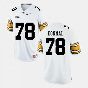 Alumni Football Game Andrew Donnal Iowa Jersey Mens #78 White 540492-835
