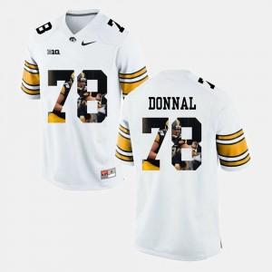 Andrew Donnal Iowa Jersey White Men's Pictorial Fashion #78 451366-162