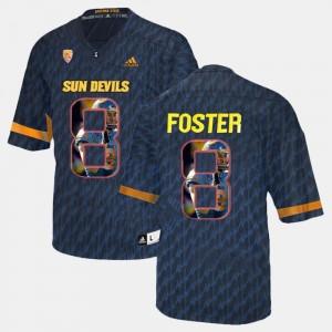 Player Pictorial D.J. Foster ASU Jersey For Men Black #8 576983-885