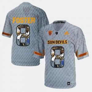 Player Pictorial Gray D.J. Foster ASU Jersey #8 Men 540372-332