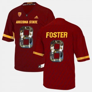 #8 For Men's D.J. Foster ASU Jersey Red Player Pictorial 767216-851