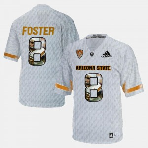 D.J. Foster ASU Jersey For Men Player Pictorial #8 White 203038-715