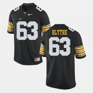 Alumni Football Game Black #63 Austin Blythe Iowa Jersey Men 710810-590