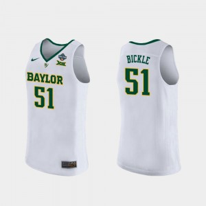 2019 NCAA Women's Basketball Champions Caitlyn Bickle Baylor Jersey For Women's White #51 189879-234