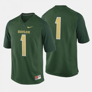 Baylor Jersey Green #1 Mens College Football 339903-751