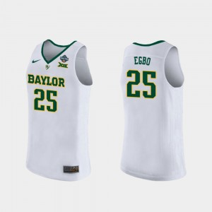 Queen Egbo Baylor Jersey #25 For Women's White 2019 NCAA Women's Basketball Champions 429497-983