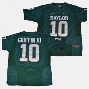 Green College Football Robert Griffin III Baylor Jersey For Men's #10 753825-239
