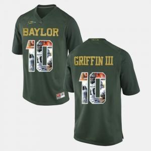 Robert Griffin III Baylor Jersey Men's Player Pictorial #10 Green 903510-151