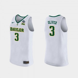 2019 NCAA Women's Basketball Champions Ladies White Trinity Oliver Baylor Jersey #3 292117-594