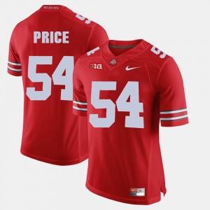 Scarlet #54 Alumni Football Game Mens Billy Price OSU Jersey 407438-669