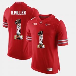 #1 Mens Pictorial Fashion Scarlet Braxton Miller OSU Jersey 898872-443