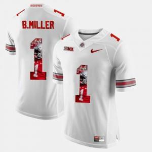 #1 Pictorial Fashion Men White Braxton Miller OSU Jersey 921044-714