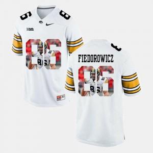 White Pictorial Fashion #86 C.J. Fiedorowicz Iowa Jersey Mens 343759-147