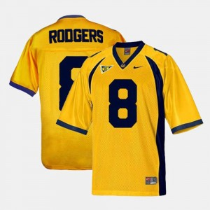 Aaron Rodgers Cal Bears Jersey #8 College Football Gold Men's 370627-987