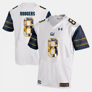 #8 Men's Player Pictorial Aaron Rodgers Cal Bears Jersey White 791627-621
