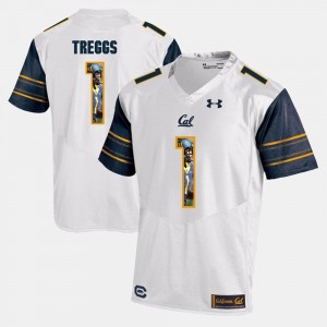 For Men #1 White Bryce Treggs Cal Bears Jersey Player Pictorial 816012-288