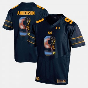 Men Navy Blue C.J. Anderson Cal Bears Jersey #9 Player Pictorial 469516-823
