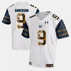 #9 C.J. Anderson Cal Bears Jersey Player Pictorial Men's White 143950-924