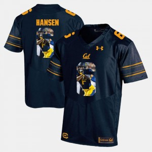 #6 Player Pictorial Navy Blue For Men Chad Hansen Cal Bears Jersey 394575-635