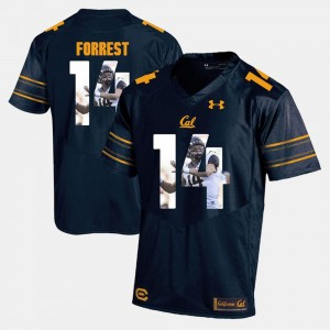 #14 Navy Blue For Men Player Pictorial Chase Forrest Cal Bears Jersey 593654-310