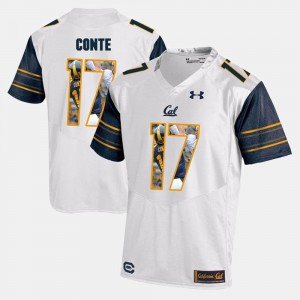 Chris Conte Cal Bears Jersey Player Pictorial White Men's #17 509464-785