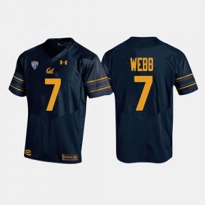 #7 College Football Davis Webb Cal Bears Jersey Men's Navy 692977-710