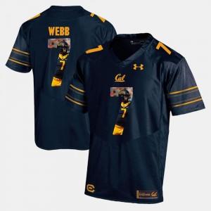 Navy Blue Davis Webb Cal Bears Jersey Player Pictorial For Men #7 204088-510
