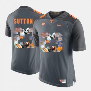 Pictorial Fashion #23 Cameron Sutton UT Jersey For Men Grey 579357-367