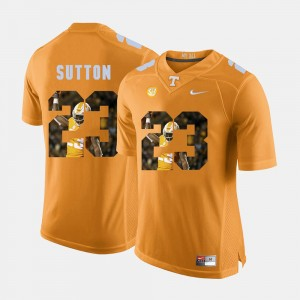 For Men's Orange Cameron Sutton UT Jersey Pictorial Fashion #23 366005-550