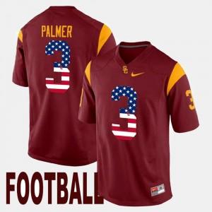 Carson Palmer USC Jersey US Flag Fashion For Men Maroon #3 240114-905