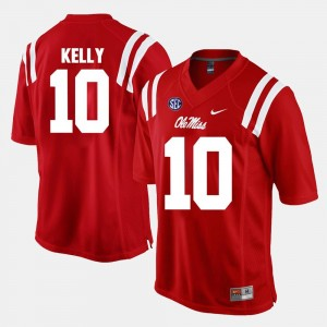 Men Alumni Football Game Red #10 Chad Kelly Ole Miss Jersey 138202-423