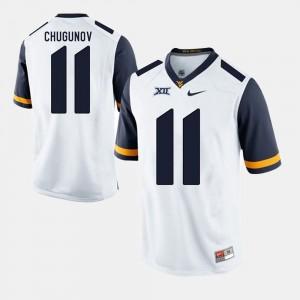 #11 White Men's Chris Chugunov WVU Jersey Alumni Football Game 976422-647
