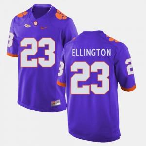 Purple #23 Andre Ellington Clemson Jersey Men's College Football 957859-984