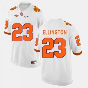 White #23 College Football Men's Andre Ellington Clemson Jersey 267222-546