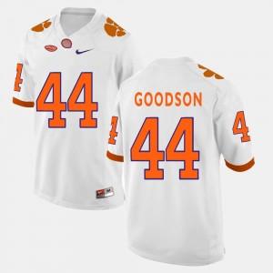 #44 College Football B.J. Goodson Clemson Jersey Men's White 141436-871