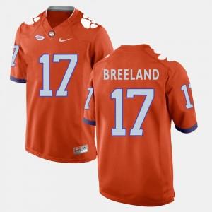 Orange For Men's Bashaud Breeland Clemson Jersey College Football #17 957480-663