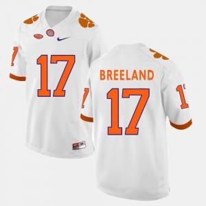 For Men's College Football White Bashaud Breeland Clemson Jersey #17 826828-912