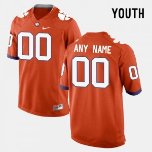 Youth #00 Clemson Customized Jerseys Orange College Limited Football 876705-543