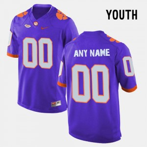 College Limited Football Youth #00 Purple Clemson Custom Jersey 415917-890