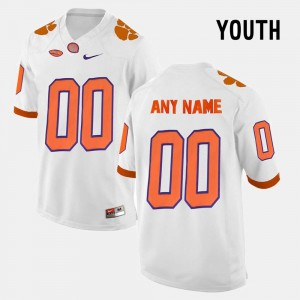 White College Limited Football Kids Clemson Customized Jersey #00 156404-228